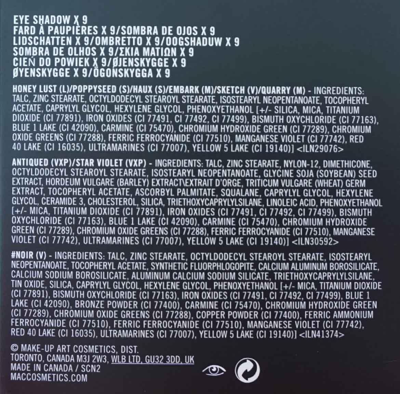 MAC-eye-shadow-X9-Burgundy-Times-Nine-ingredients