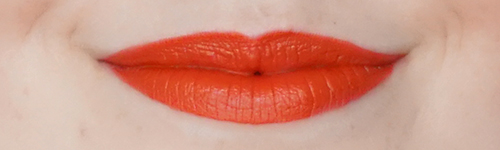 MUA-makeup-academy-LUXE-colour-intense-lipstick-Vivid-hot-chili-review-swatch-2