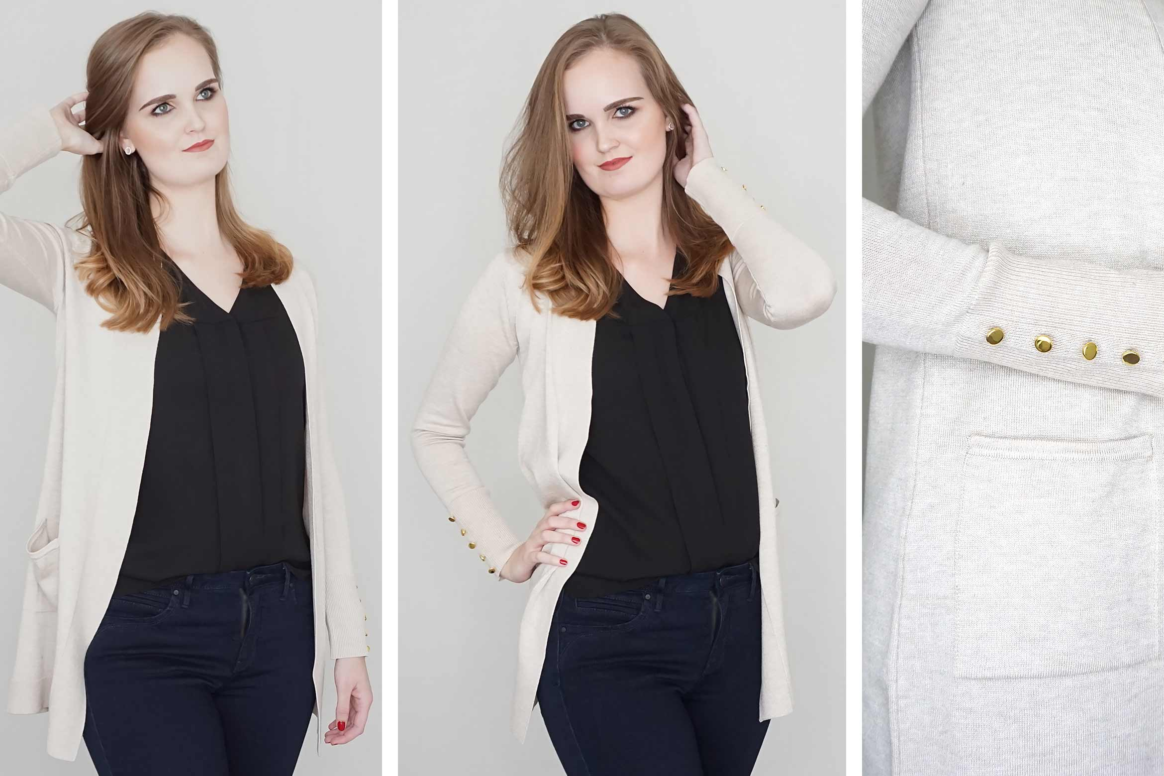 primark black formal cardigan review