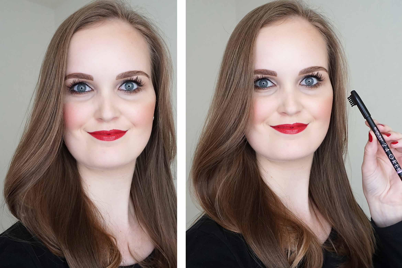 Deborah-Milano-24ORE-brow-pencil-review-look-1
