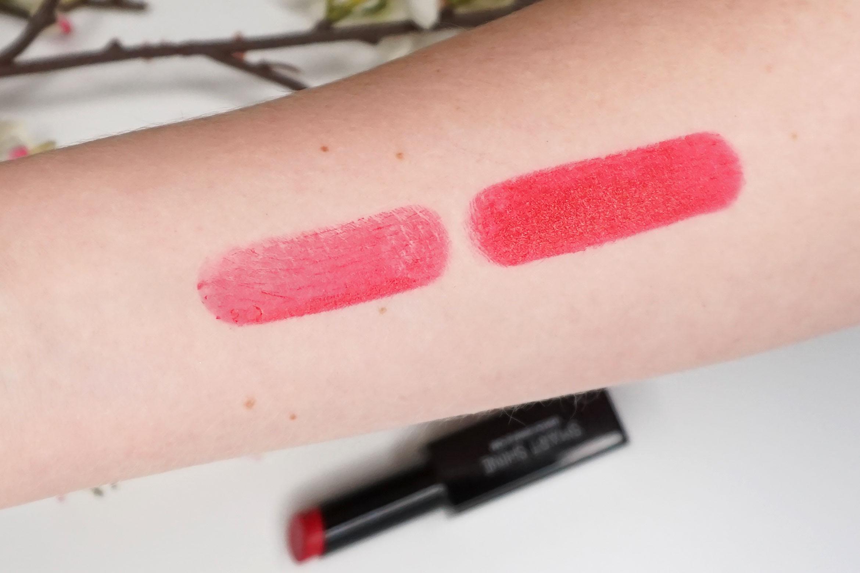 douglas-smart-shine-lipstick-pop hug-swatch-review