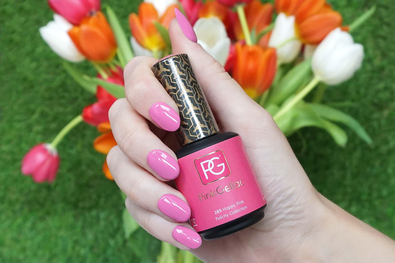 pink gellac 285 happy pink swatch