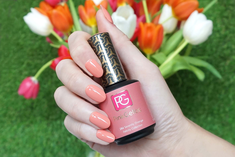 pink gellac 286 serenity orange swatch