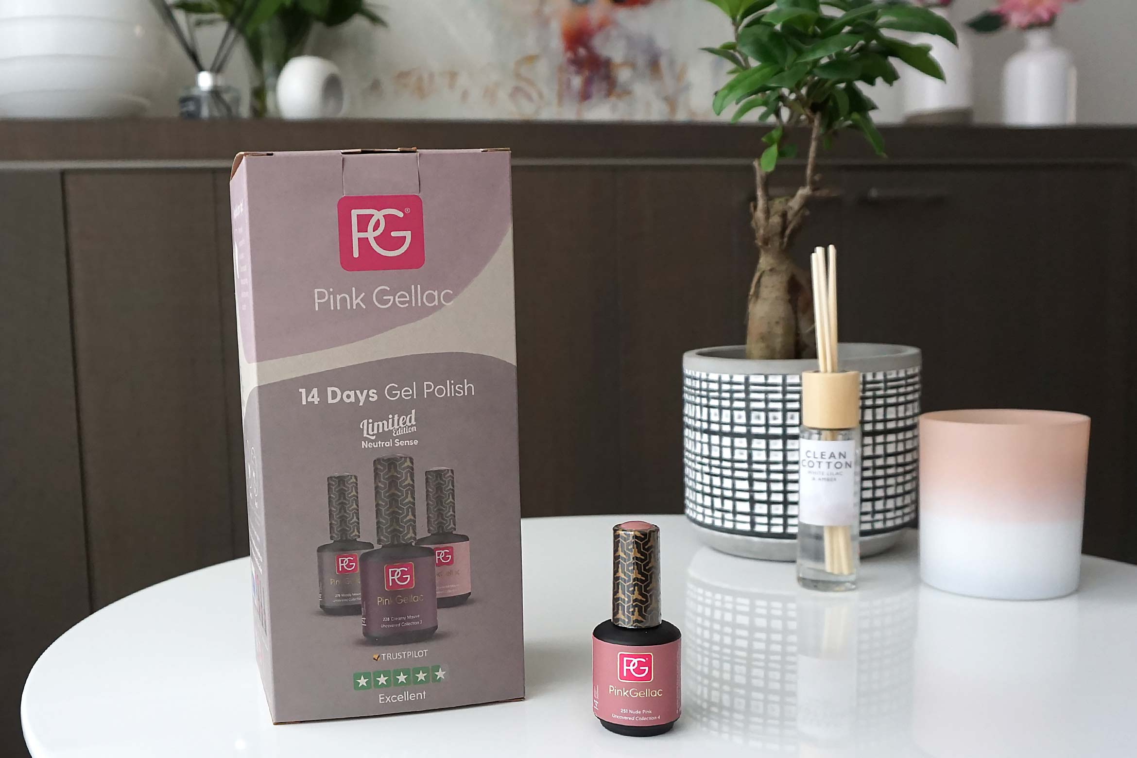 pink gellac sustainable led gellak manicure set review-1