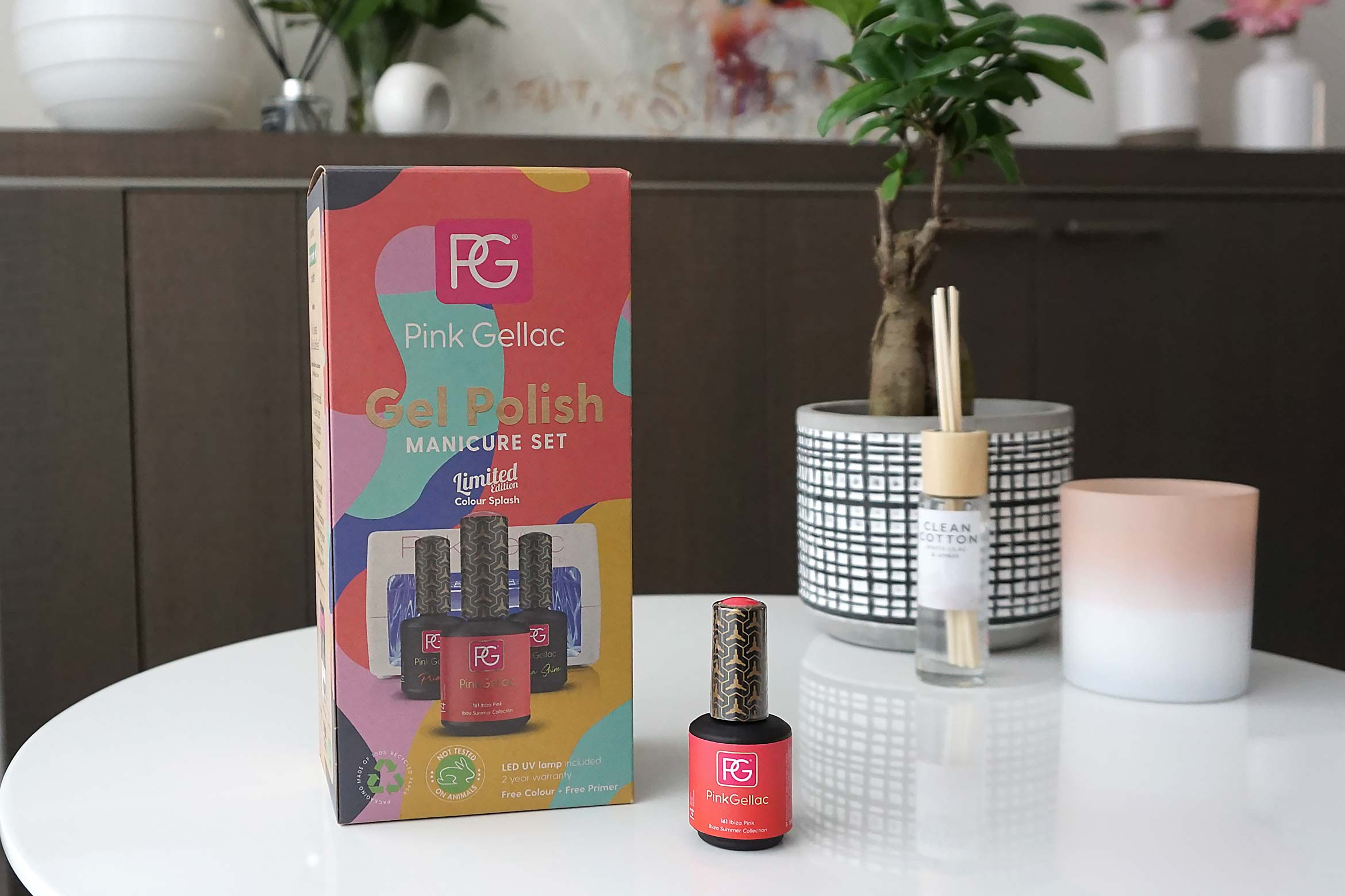 pink gellac sustainable led gellak manicure set review