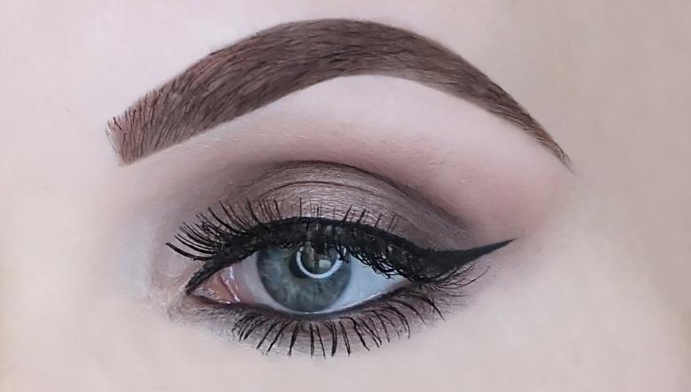 kruidvat nights like this smokey eye shadow palette review-look