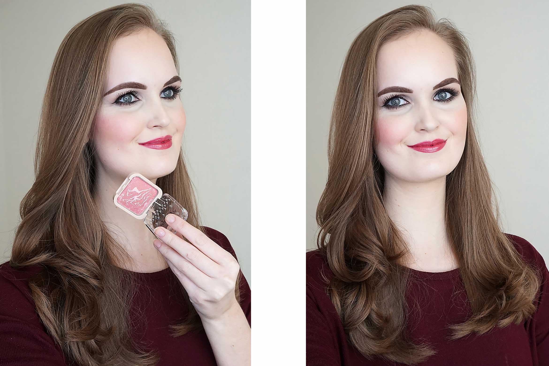 kruidvat velvet glow baked blush swatch review 020 rose pink-1