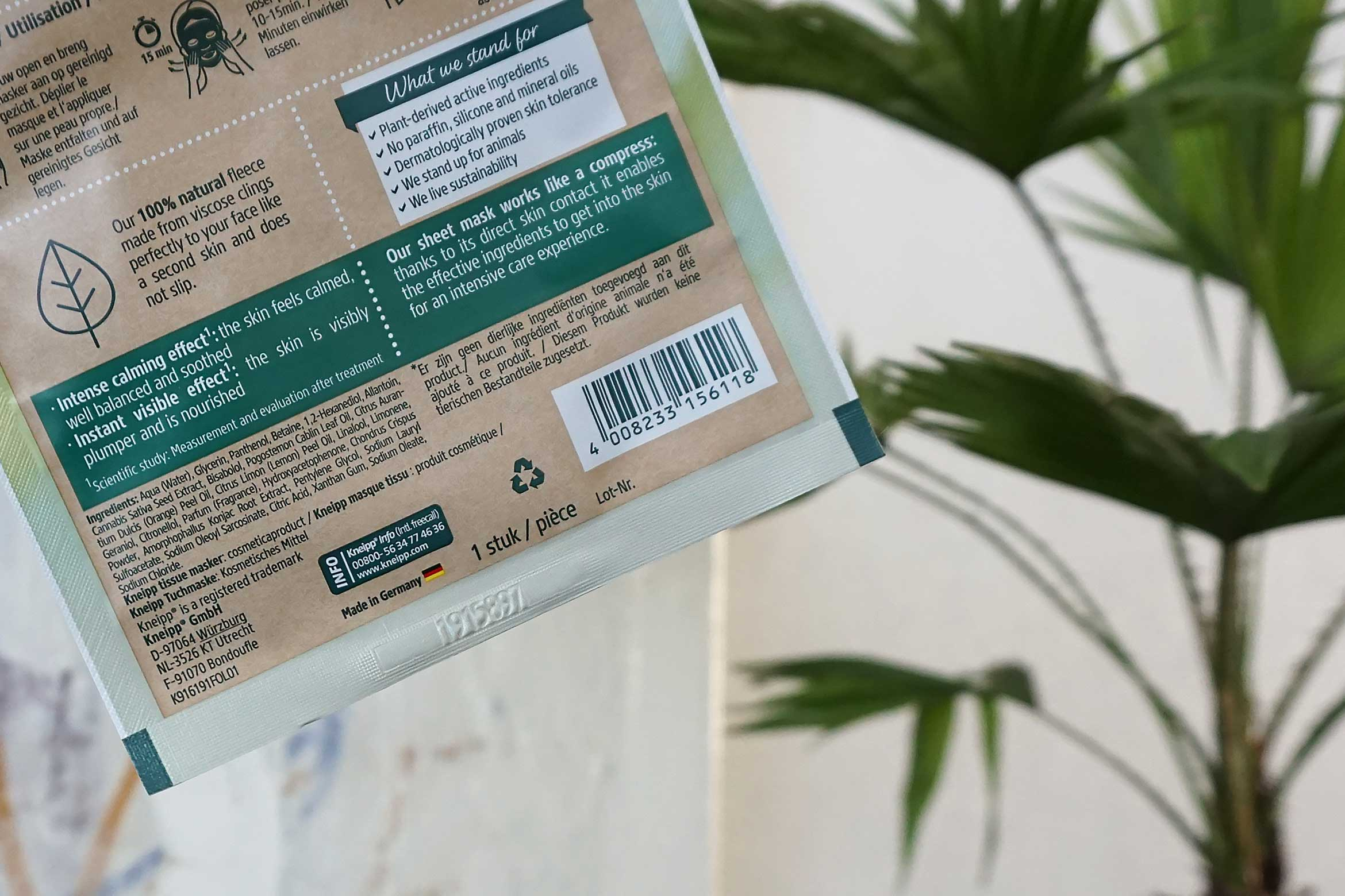 kneipp sheet mask chill out review-1