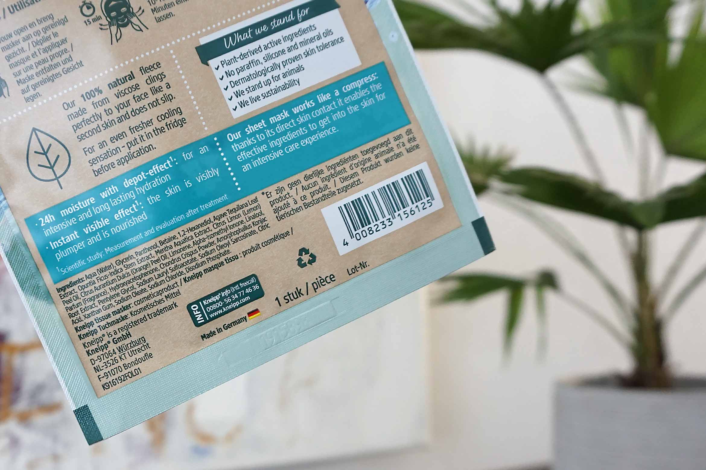 kneipp sheet mask hydro kick review-1