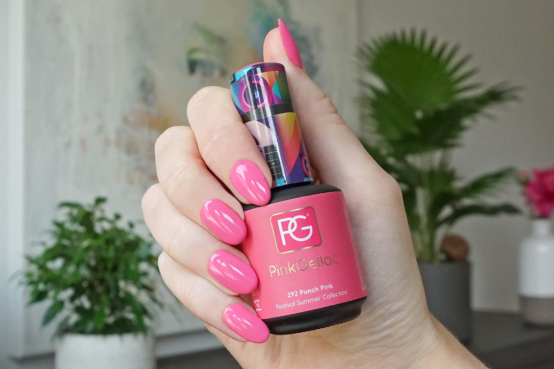 pink gellac 292 punch pink swatch