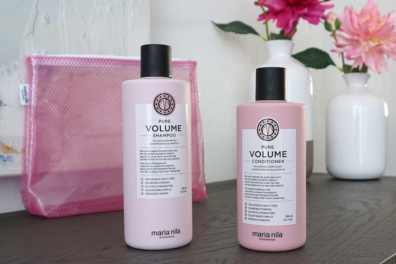 maria nila pure volume shampoo conditioner review