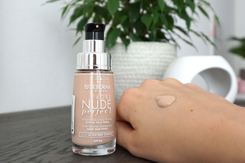 deborah milano 24ore nude perfect foundation swatch 01 fair review