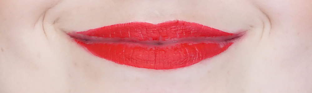 deborah milano absolute lasting liquid lipstick review 10 fire red-1