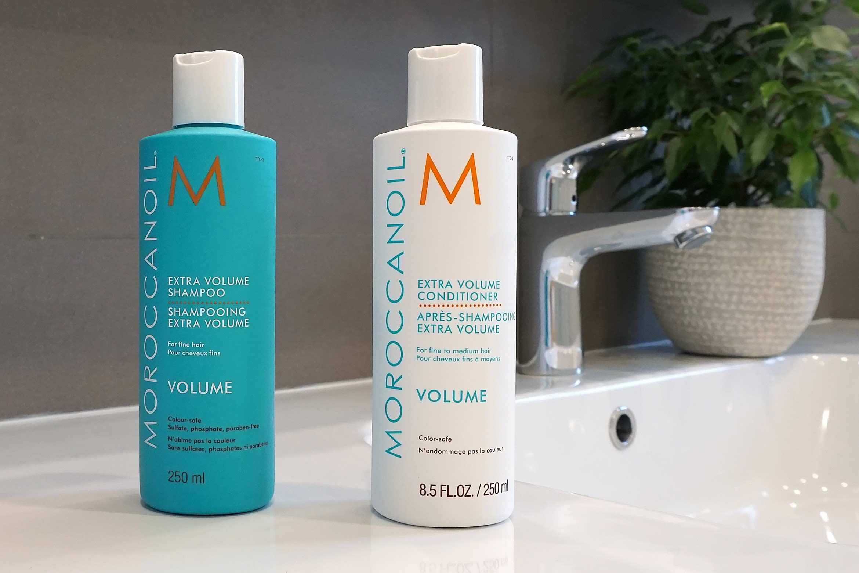 moroccanoil extra volume shampoo conditioner review