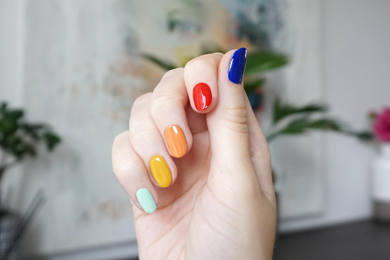 rainbow nail art essence-4
