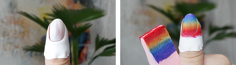 rainbow nail art essence