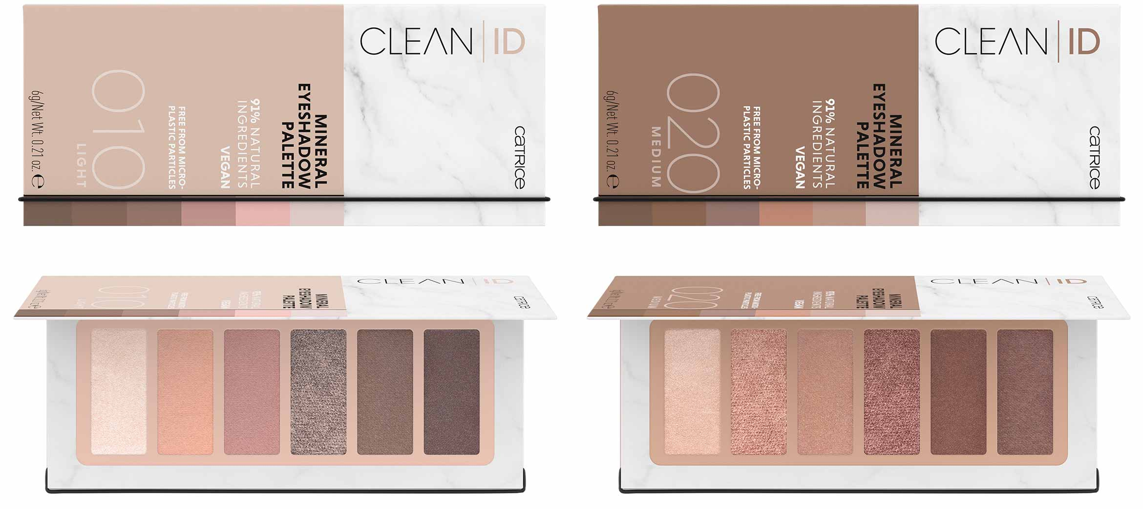 catrice clean id mineral eyeshadow palettes