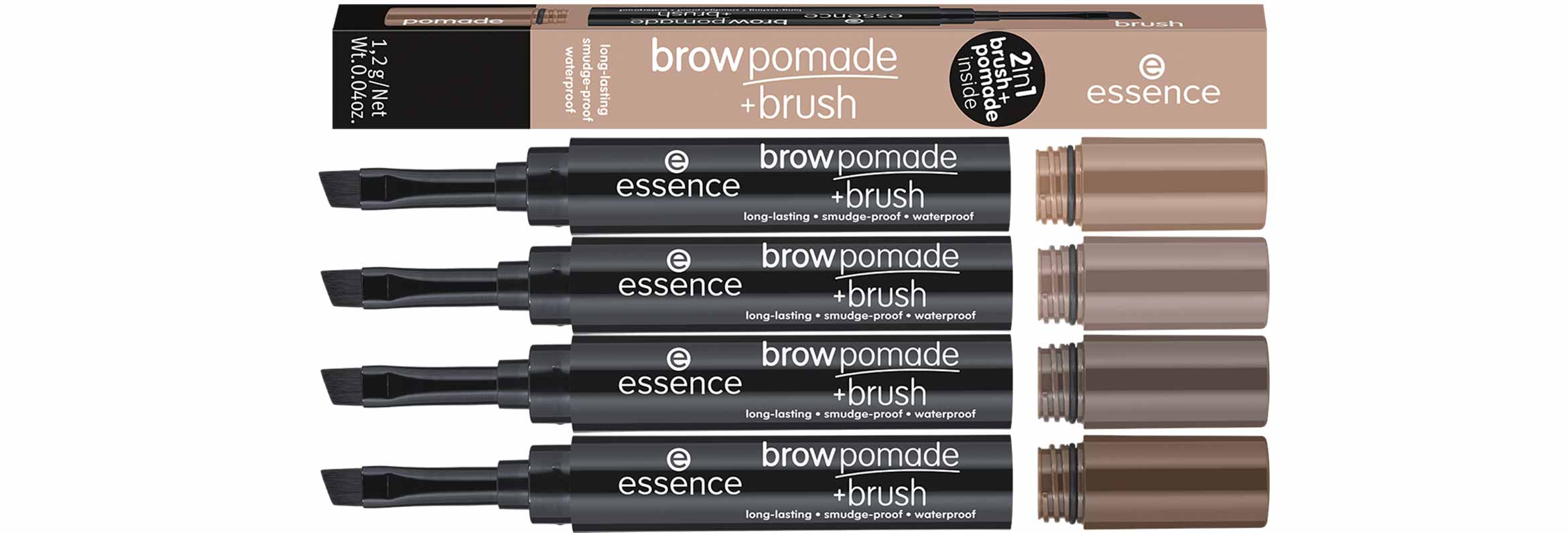 essence brow pomade brush