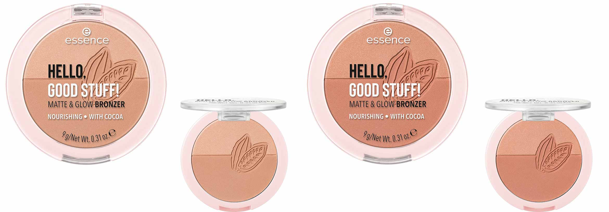 essence hello, good stuff matt glow bronzer