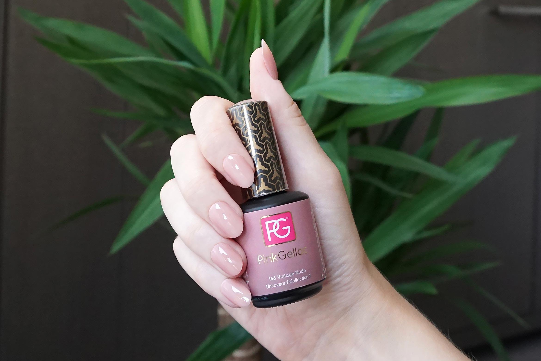 pink gellac 166 vintage nude swatch
