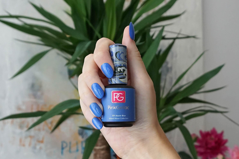 pink gellac 301 azure blue swatch