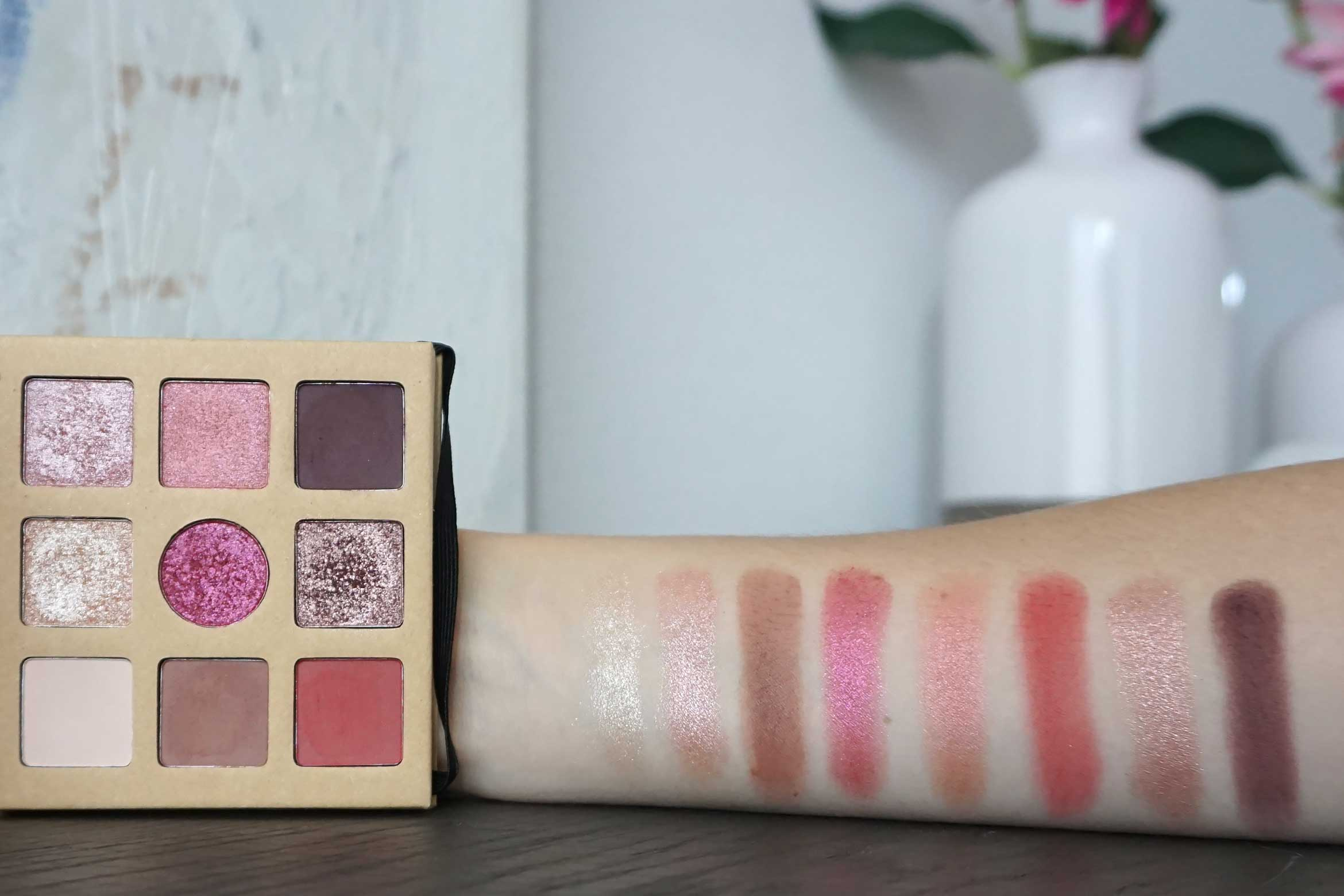 essence daily dose of love eyeshadow palette swatch review