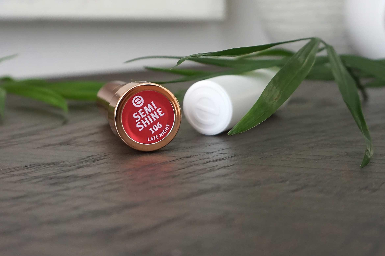 essence semi shine lipstick review 106 late night-1