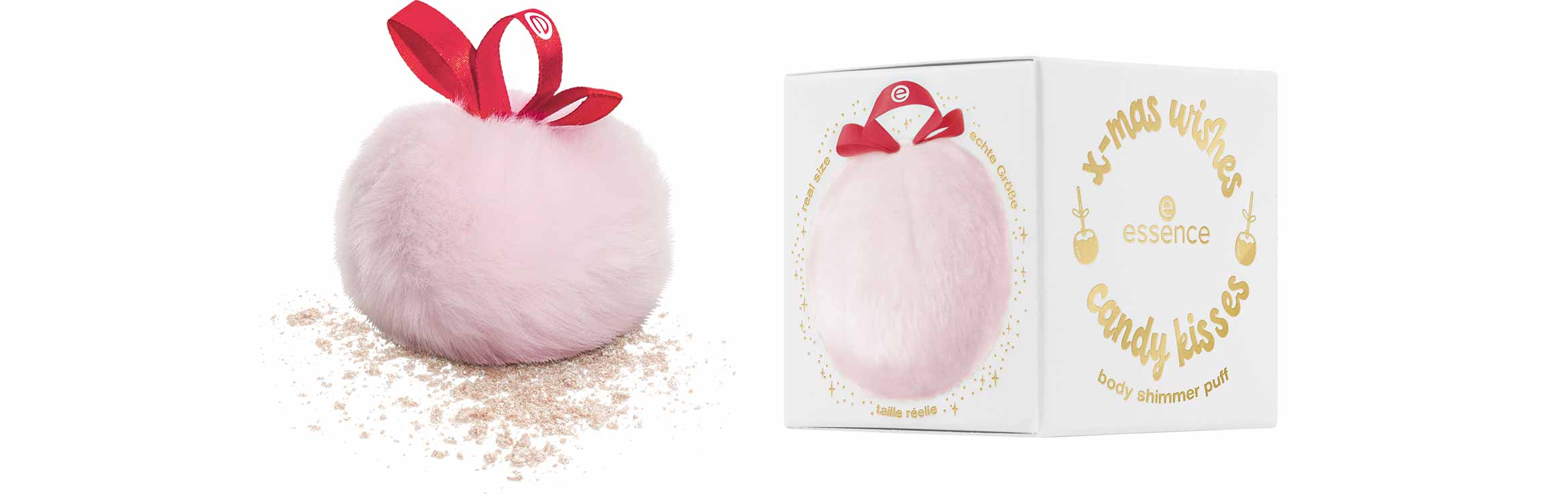 essence x-mas wishes candy kisses body shimmer puff