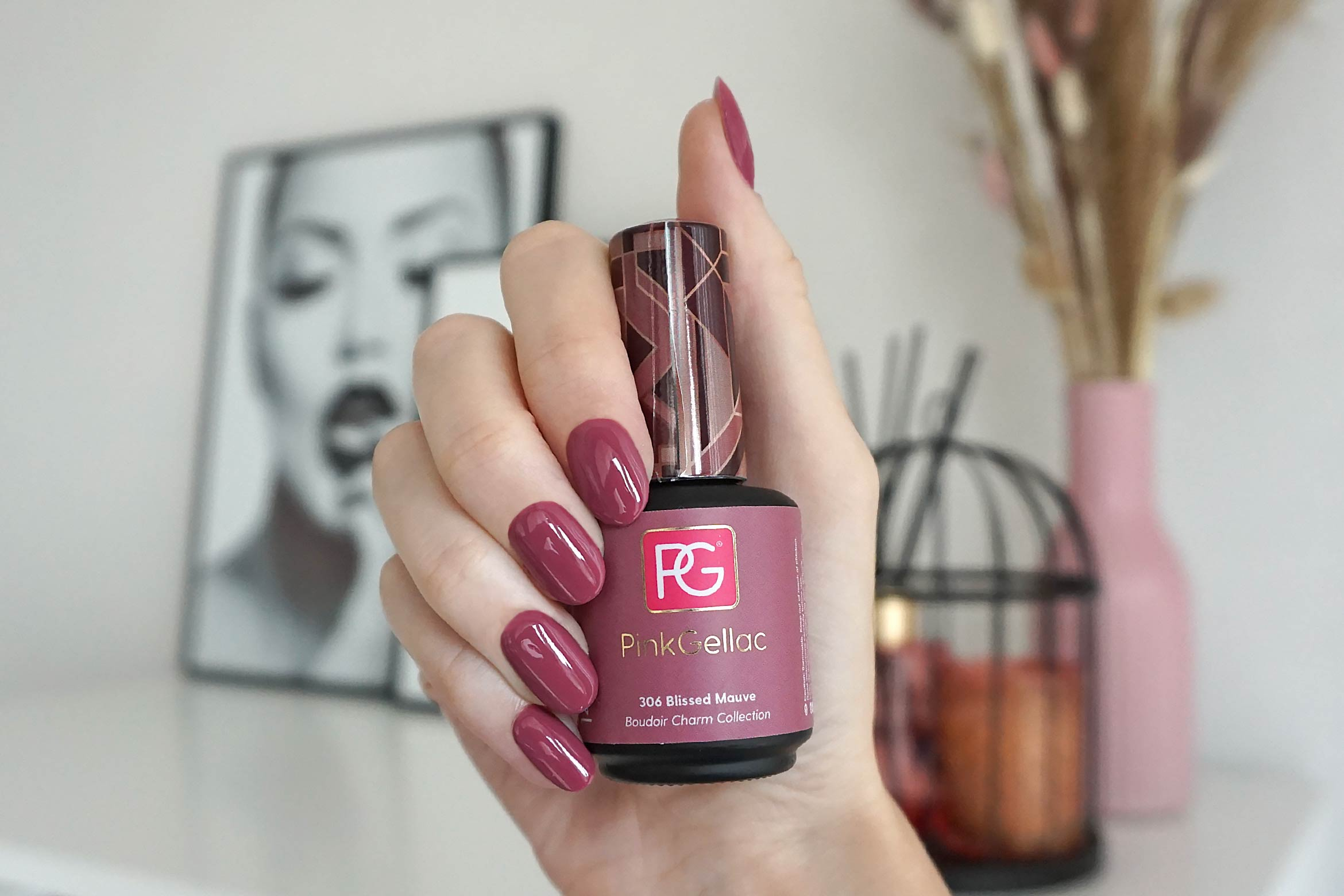 pink gellac 306 blissed mauve