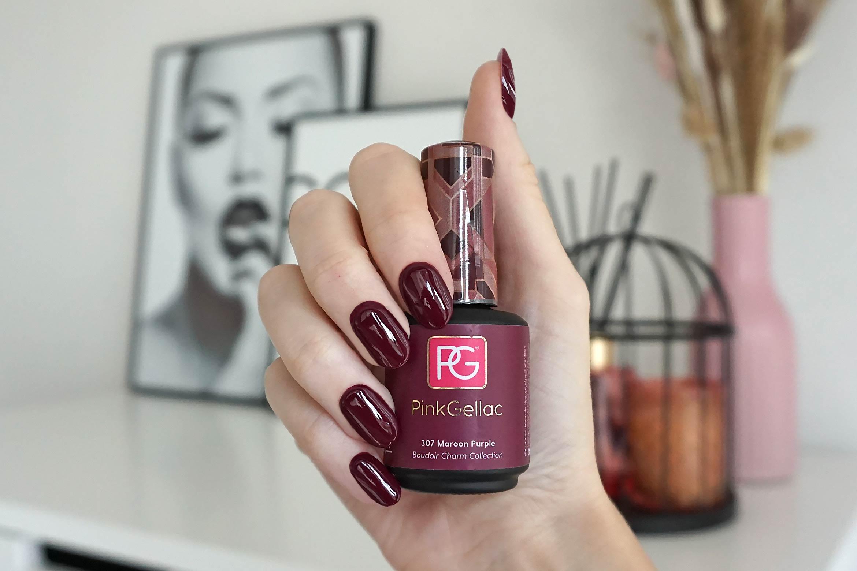 pink gellac 307 maroon purple