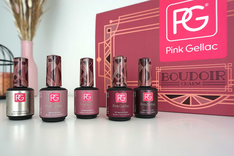 pink gellac boudoir charm swatches