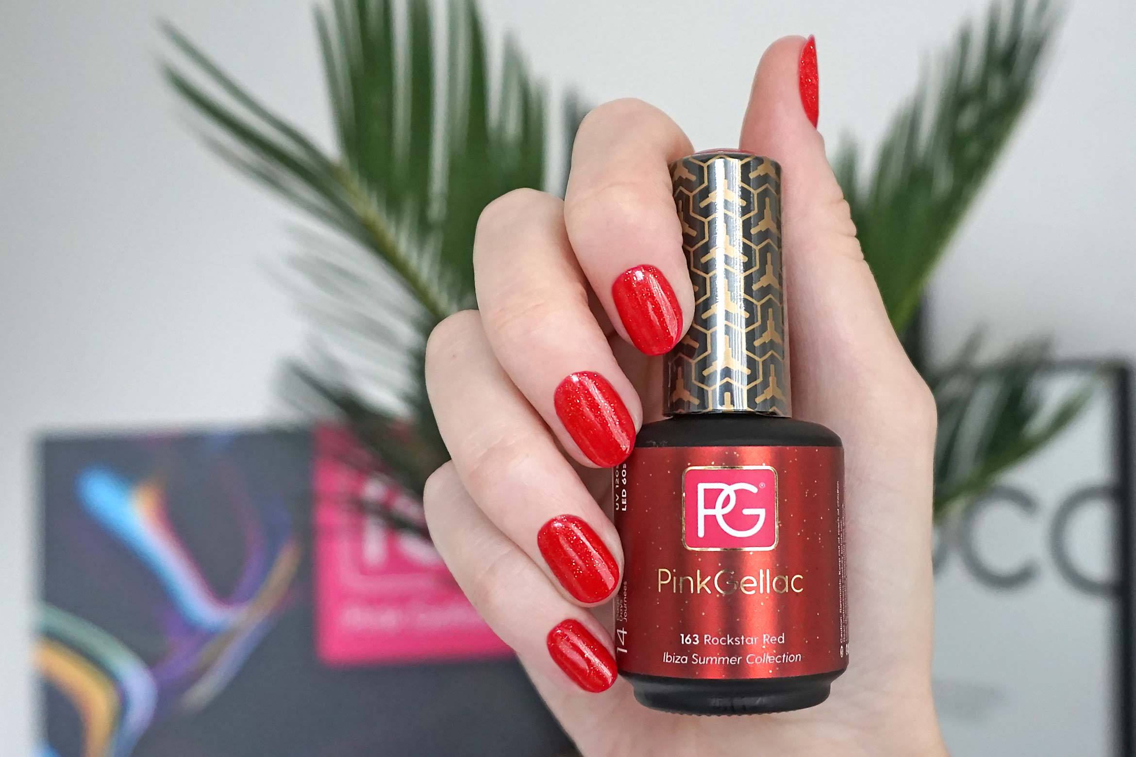 pink gellac 163 rockstar red swatch-1