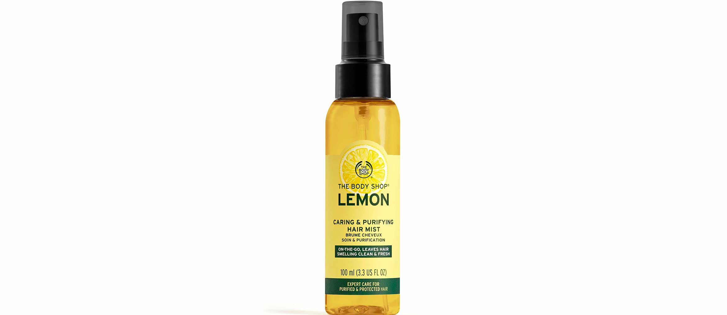 the body shop lemon caring & purifying hair mist