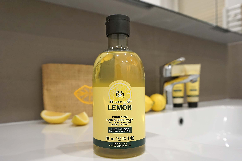 the body shop lemon hair & body wash review