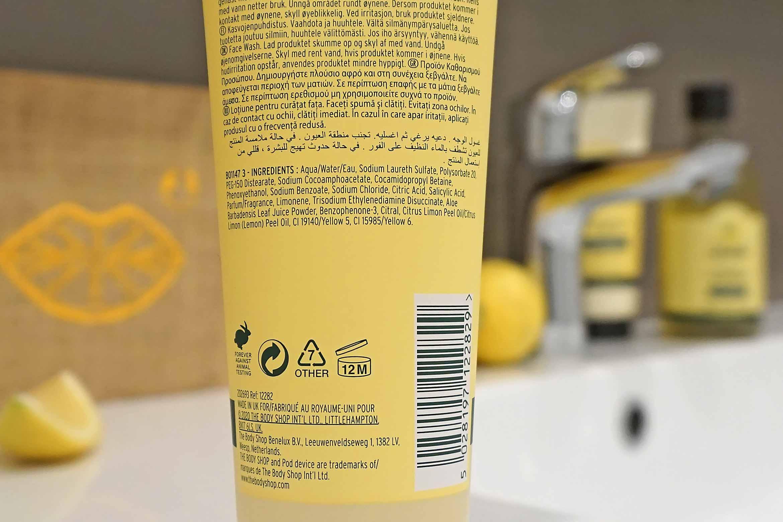 the body shop lemon purifying face wash review-1