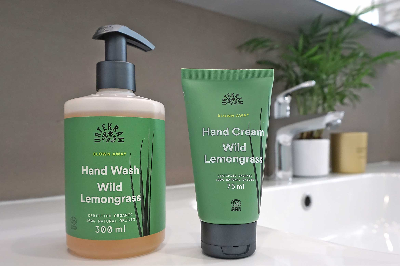 urtekram wild lemongrass hand wash hand cream review