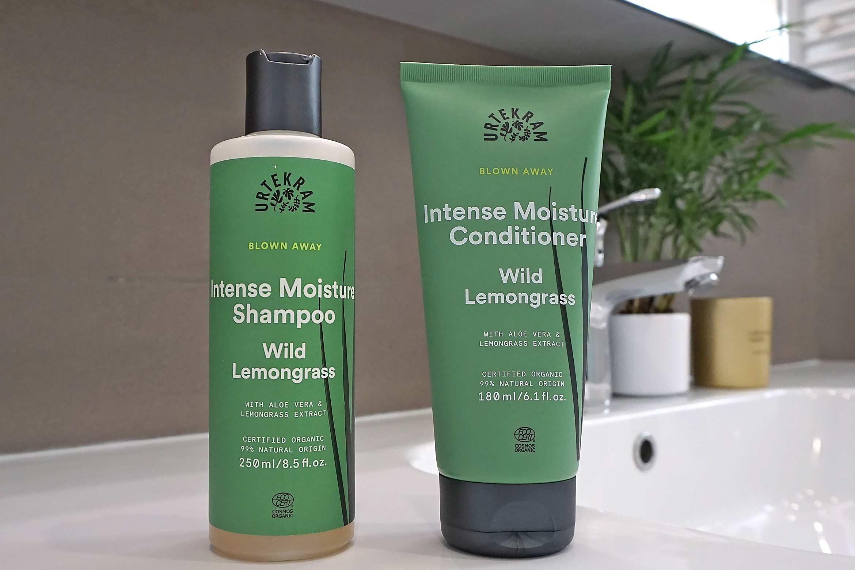 urtekram wild lemongrass intense moisture shampoo conditioner review