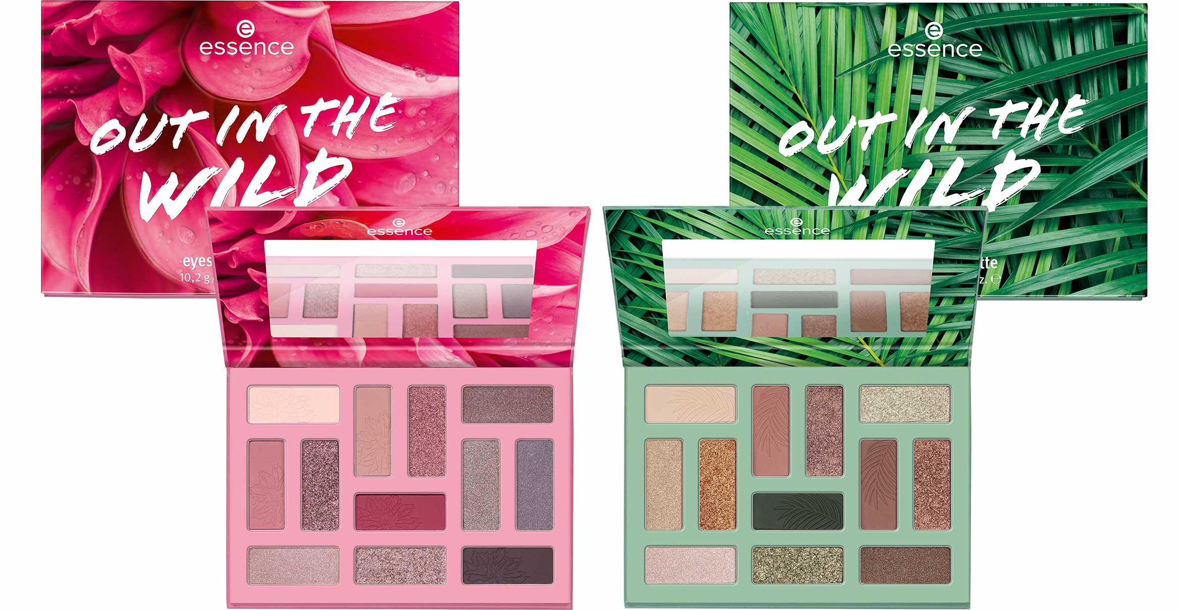 essence out in the wild eyeshadow palettes