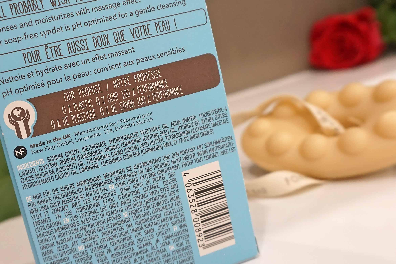 foamie shower body bar ingredienten coconut cacao butter review