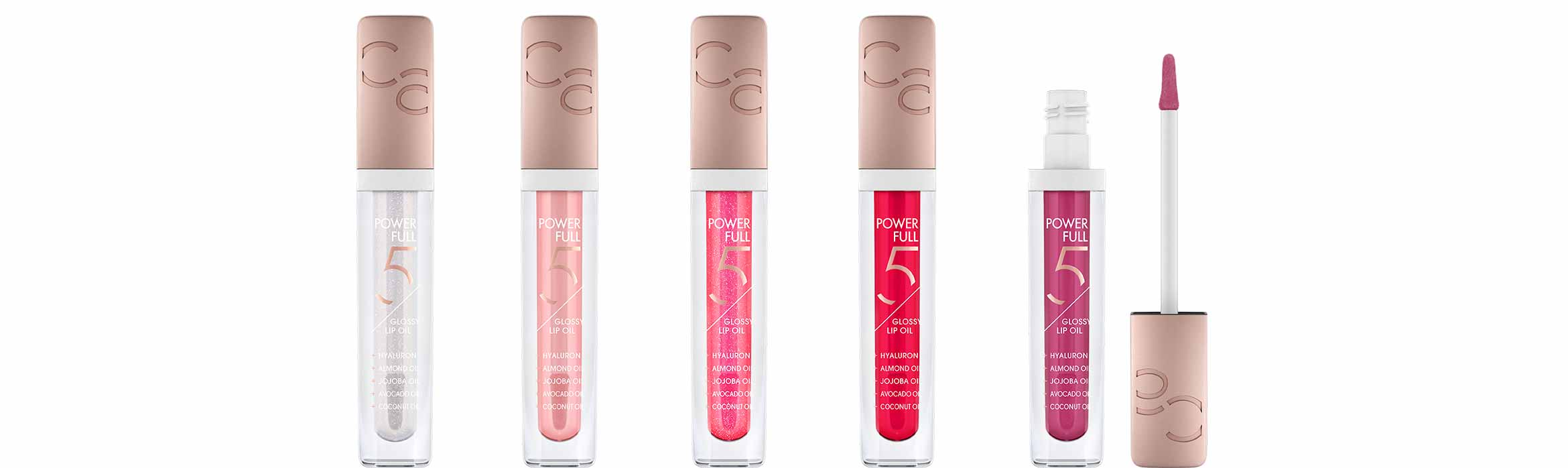catrice power full 5 glossy lip oil