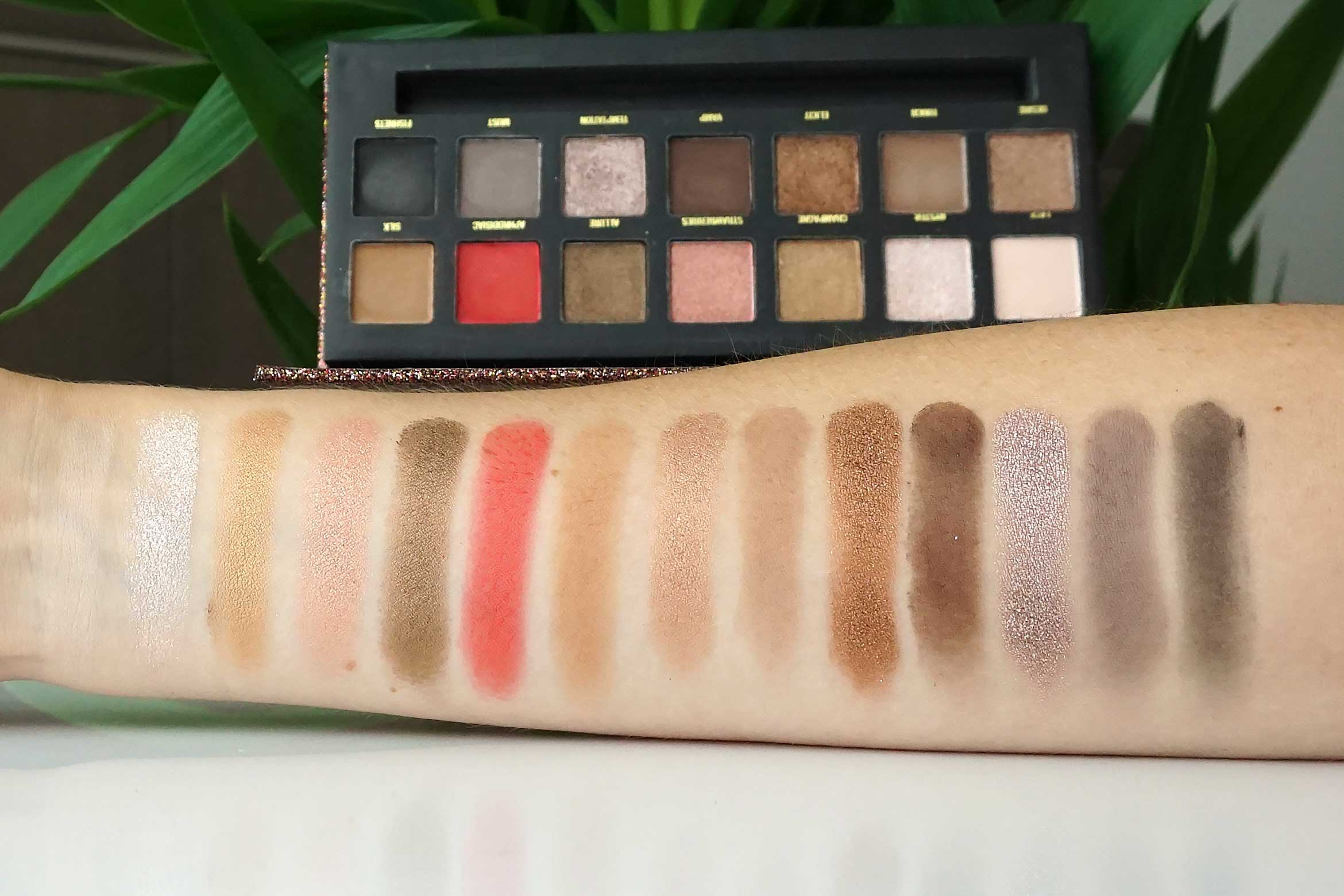 w7 seduced eyeshadow palette swatch review