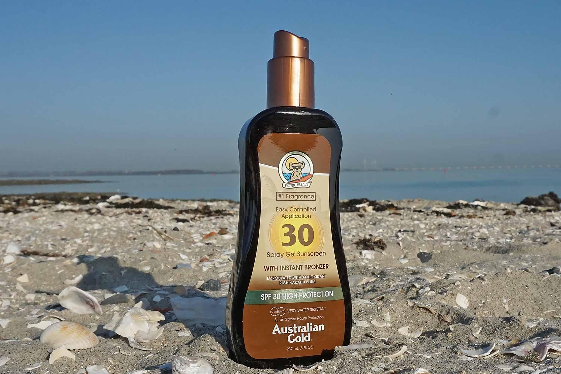 australian gold spf 30 spraygel met bronzer review