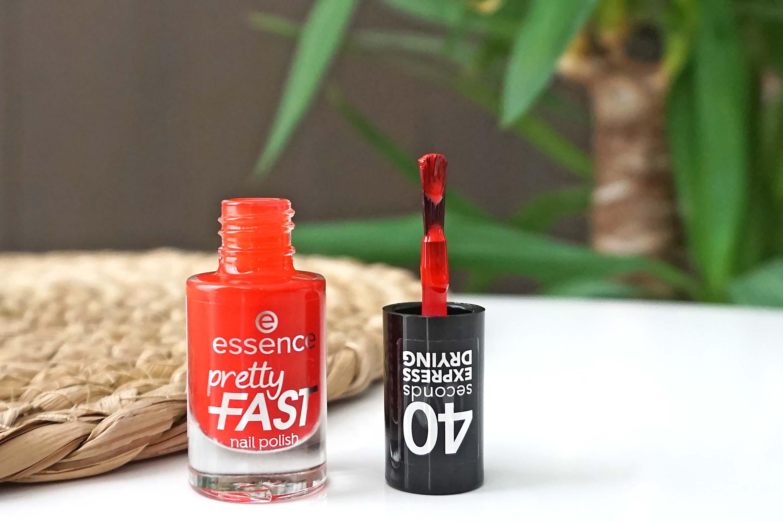essence pretty fast nail polish review