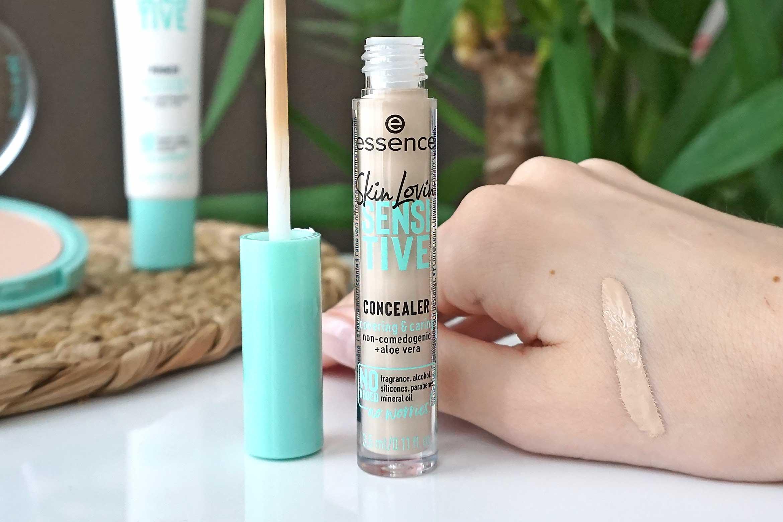 essence skin lovin' sensitive concealer swatch 10 light review