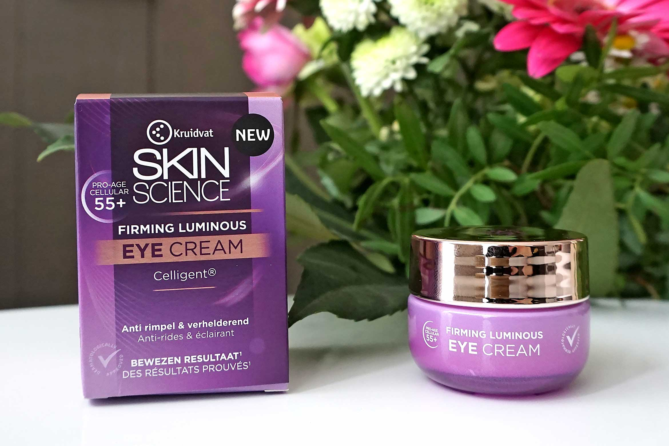 kruidvat skin science firming luminous 55+ eye cream review