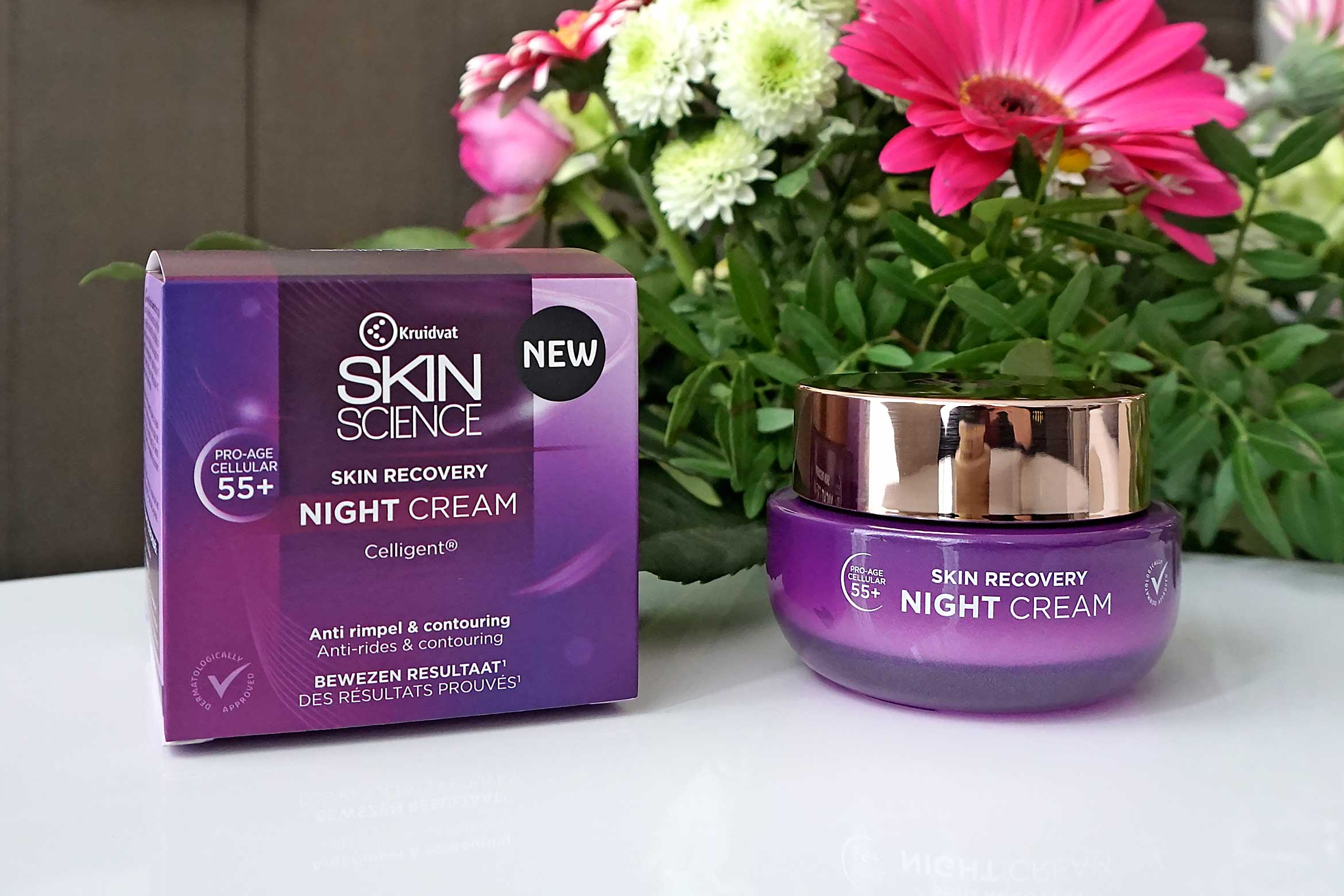 kruidvat skin science skin recovery 55+ night cream review