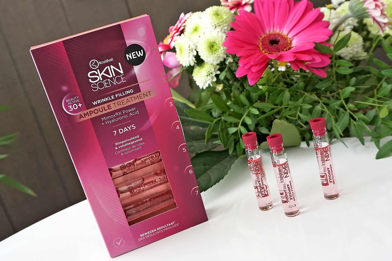 kruidvat skin science wrinkle filling 30+ ampoule treatment review