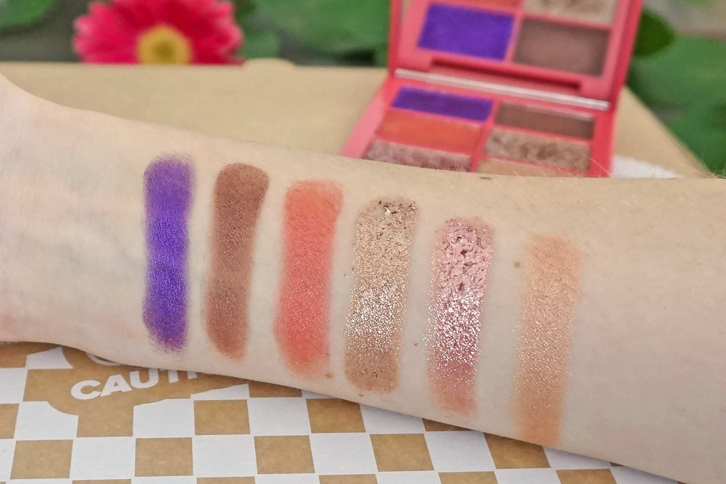 lottie london x laila loves eyeshadow palette swatches fantasy review