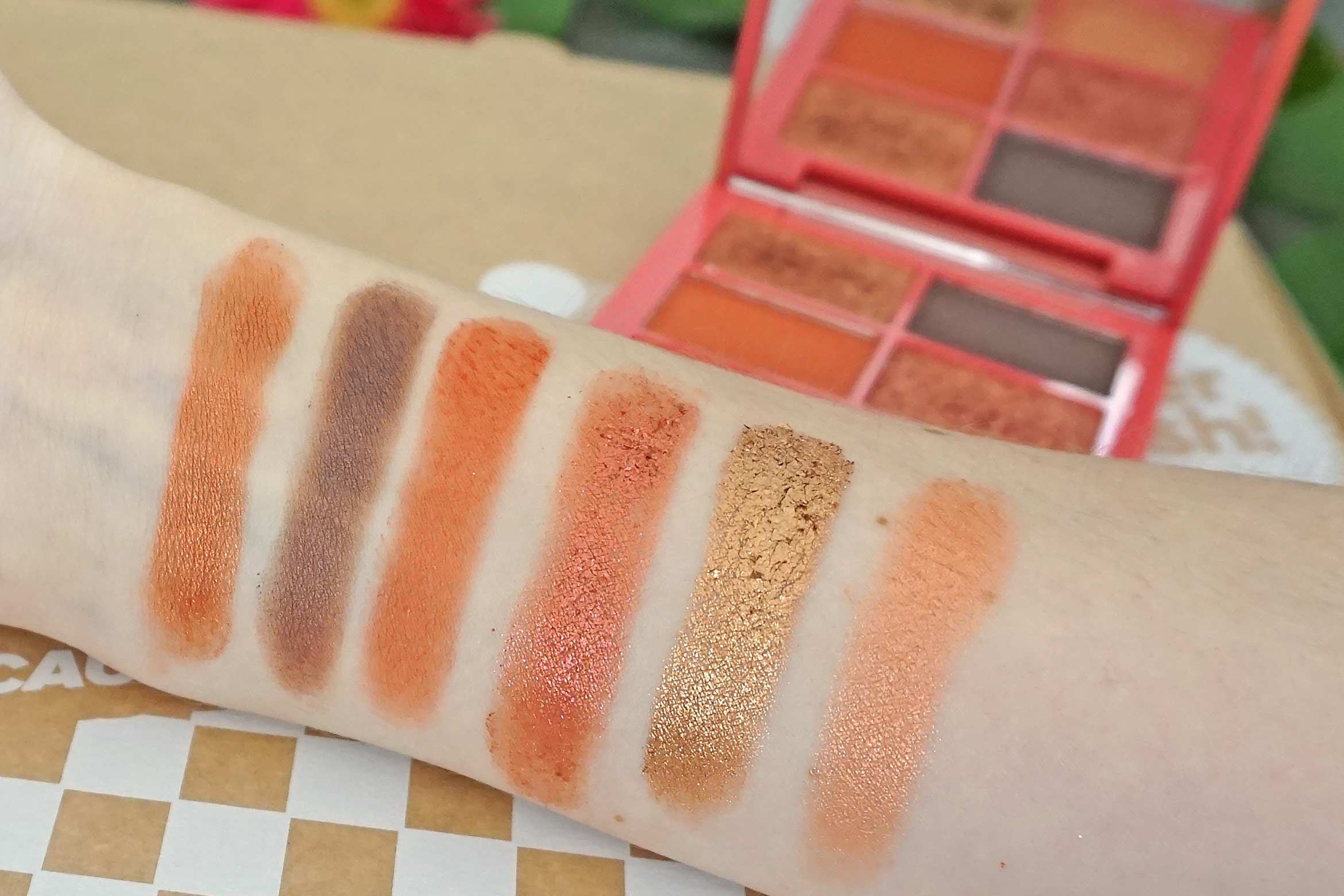 lottie london x laila loves eyeshadow palette swatches sahara review