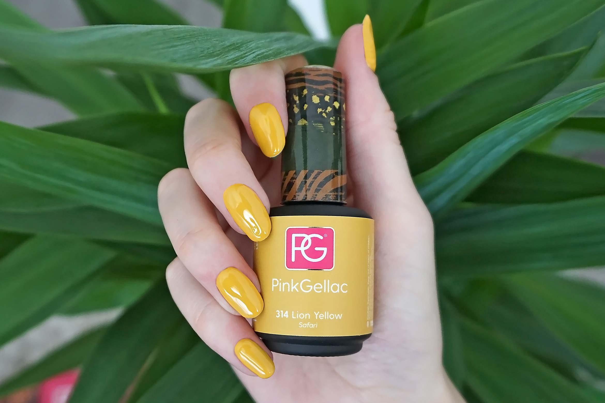 pink gellac 314 lion yellow swatch